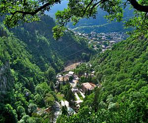 Вид на ущелье Грузия
