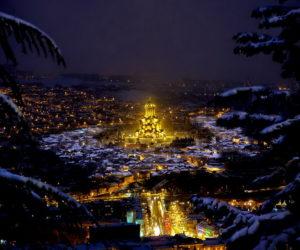 Новый Год в Тбилиси - Храм Троицы