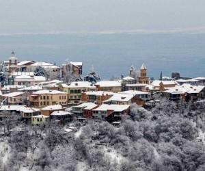 Новый Год в Тбилиси - вид на город Сигнахи