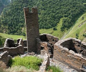 Древние руины поселка Муцо, Грузия