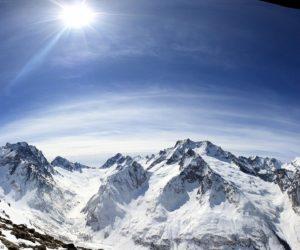 Панорама. Кавказские горы.